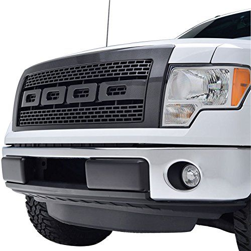 E-Autogrilles 09-14 Ford F-150 Black Carbon Fiber Look ABS Raptor Style Replacement Grille Grill with Shell (41-0132CF) - http://www.caraccessoriesonlinemarket.com/e-autogrilles-09-14-ford-f-150-black-carbon-fiber-look-abs-raptor-style-replacement-grille-grill-with-shell-41-0132cf/  #0914, #410132CF, #Black, #Carbon, #EAutogrilles, #F150, #Fiber, #Ford, #Grill, #Grille, #Look, #Raptor, #Replacement, #Shell, #Style #Exterior, #Grilles-Grille-Guards, #Grilles-Grille-Guards