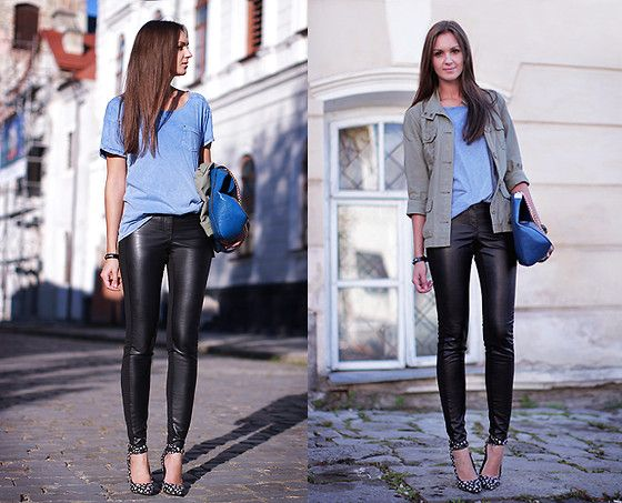 Leather Leggings Lookbook