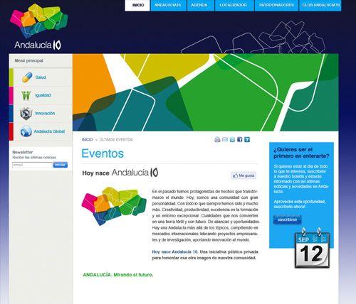 Diseño Web Andalucia10.org - Junta de Andalucía
