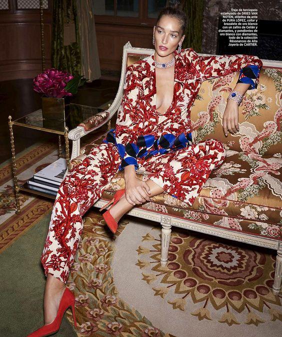 Harper's Bazaar Spain December 2017 Josephine Le Tutour Zoltan Tombor