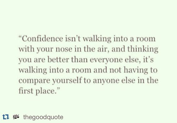 Confidence: know your worth. No comparison needed.