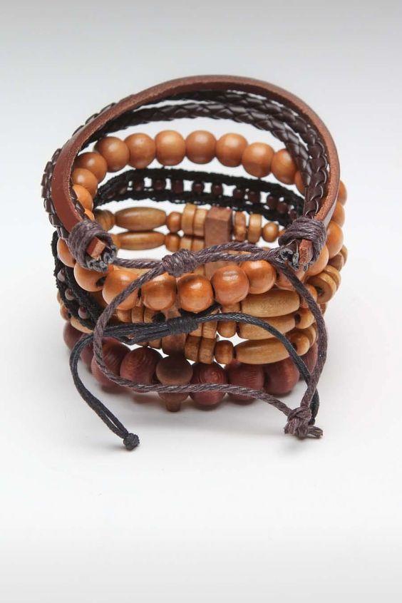 Triple Stack Bracelet 5 Pack Beige
