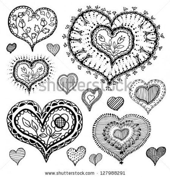 lijn patroon voor hartjes