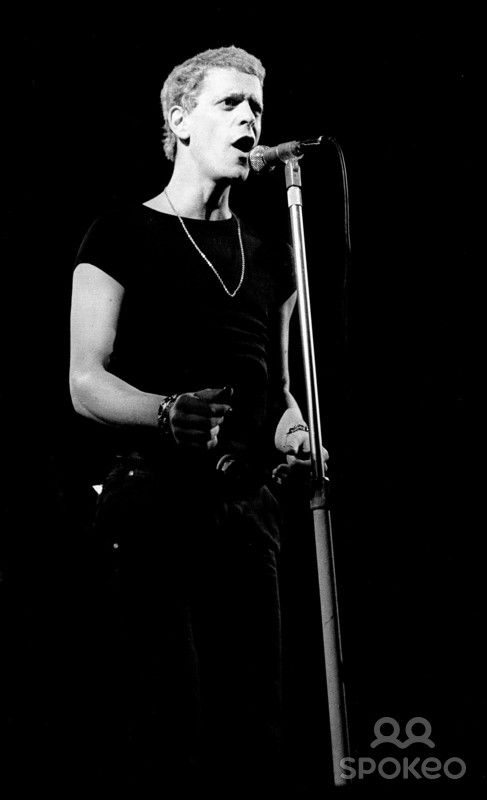 Lou Reed performing during his 'Sally Can't Dance' world tour at the Rainbow Theatre - 1974