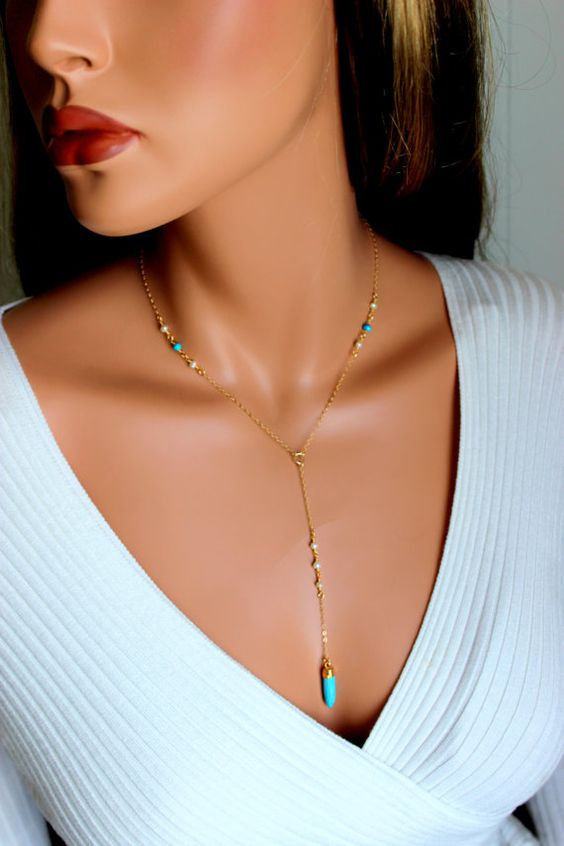 rosary style necklace turquise y necklace by divinitycollection