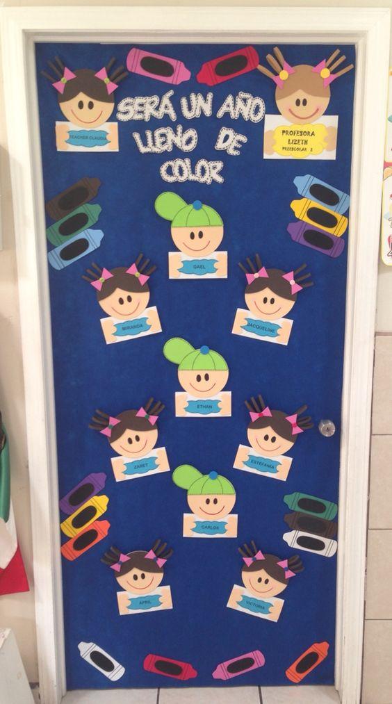 decoracion de puerta para salon de clases decorado