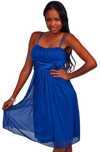 Apparel: Womens Designer Flowy Pleated Evening Prom Cocktail Formal Dress