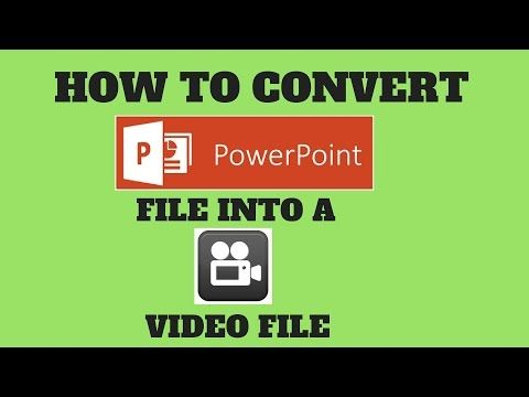 How To Convert Powerpoint Presentation In Video Slideshow Youtube Powerpoint Presentation Youtube Powerpoint