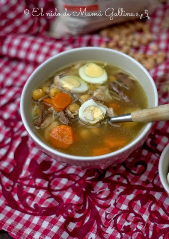 sopa de polllo