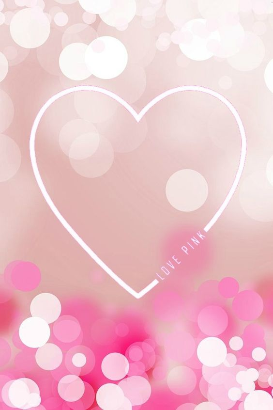 Wallpaper cute Pink Love : Victoria secret, Victoria and Phone wallpapers on Pinterest