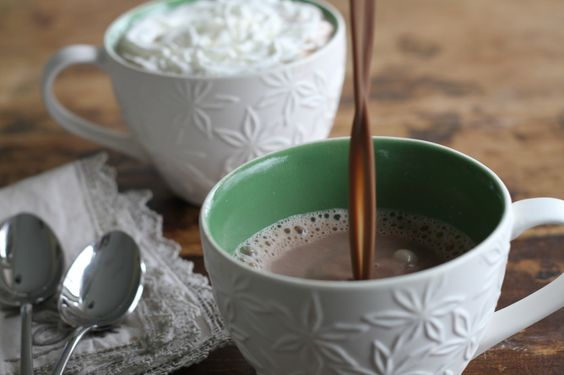 Outrageous Hot Chocolate via Brittany's Pantry  Homemade and creamy, this is SO much better than the store-bought packets.