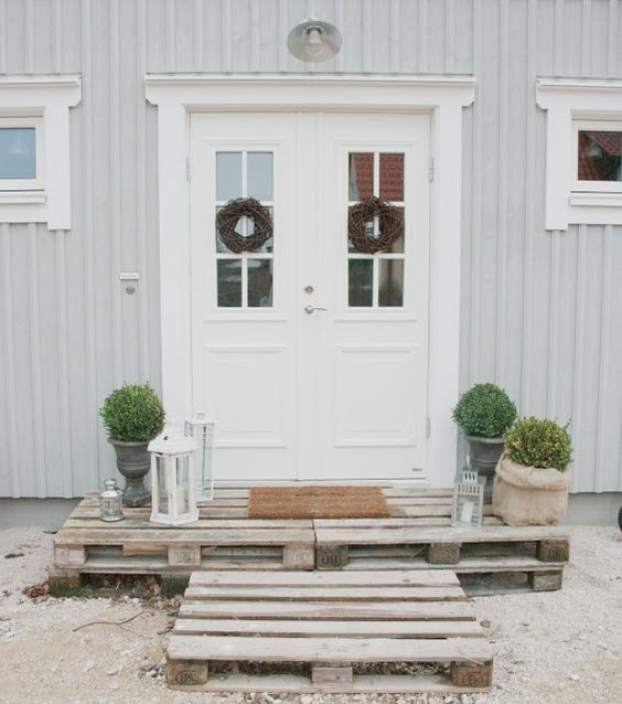 Schner Eingang | Terasse | Pinterest | Front porches, Entrance and ...