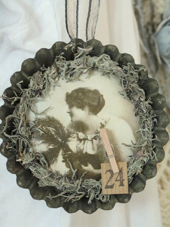 Vintage Tin Christmas Tree Ornaments : Cake tin vintage christmas tree ornament french tart