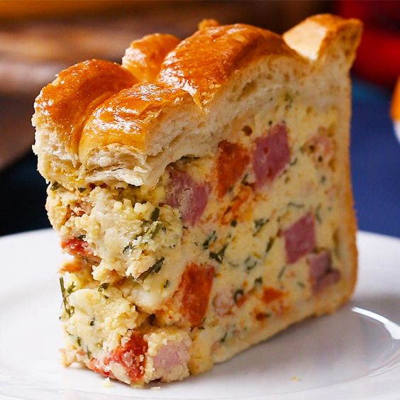 Easter Savory Pie (Pizza Rustica)