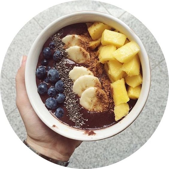 blueberries banana and more chia seeds glutenfree mango blueberries ...
