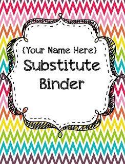 sub binder {{FREE}} A lot of cool classroom ideas