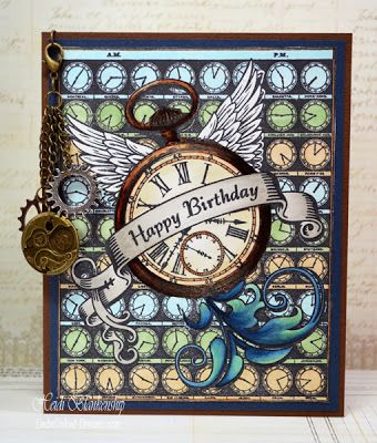 Time Flies Background and Timely Banner - JustRite Papercraft December New Release
