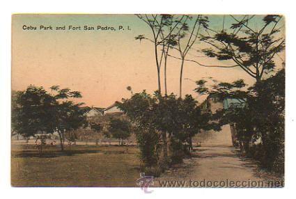 PHILIPPINES. FILIPINAS. PARQUE DE CEBU Y FUERTE SAN PEDRO. (Postales - Postales Extranjero - Asia - Filipinas)