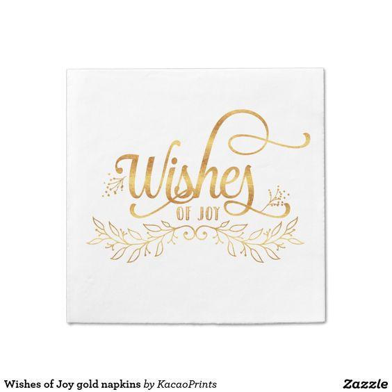 Wishes of Joy gold napkins