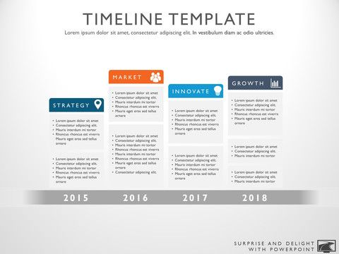 Timeline template for Powerpoint Great project management tools - advertising timeline template