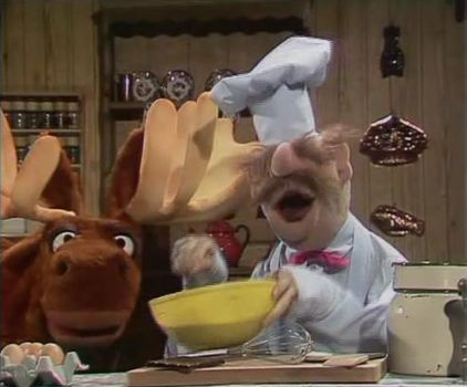 The Muppets Chef Making A Cake