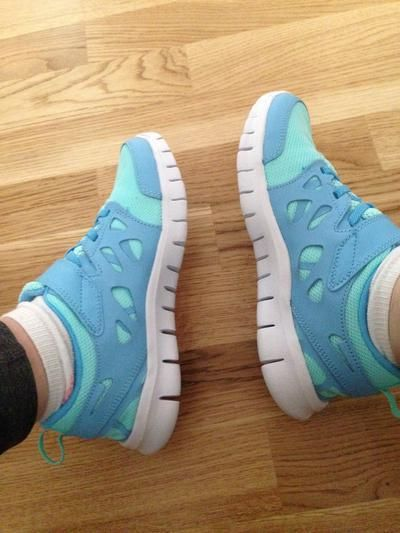 New work out trainers ekk #nike #freeruns #workout #covetme