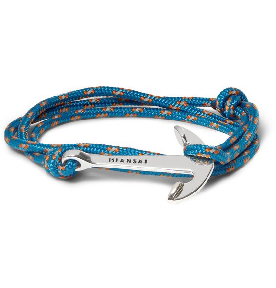 Miansairope and anchor bracelet