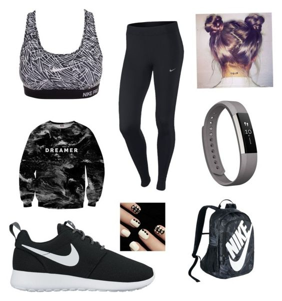 """Untitled #17"" by niania-i on Polyvore featuring NIKE, Mr. Gugu & Miss Go and Fitbit"