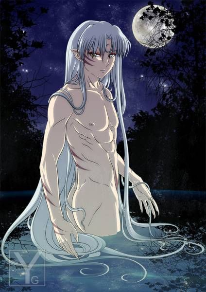 Naked Anime Demon Boy | Naked Sesshomaru , muscle demon boy, Inuyasha brother