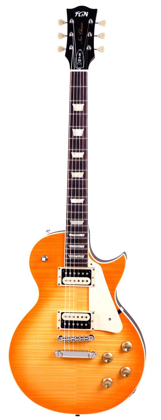 FGN LS-10 LD Neo Classic E-Gitarre, flamed lemon drop - Die FGN Version der historischen LP Standard bietet alles, was man von Fujigen gewohnt ist: perfekte Verarbeitung ohne die üblichen Schwachstellen, Hölzer ohne Gewichtsreduzierung und eingebautes Sustain bis zum Abwinken!