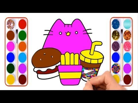 How To Draw French Fry With Burger For Kids Coloring Pages Book Raiyant Coloring For Kids Coloring Pages For Kids Colorful Drawings