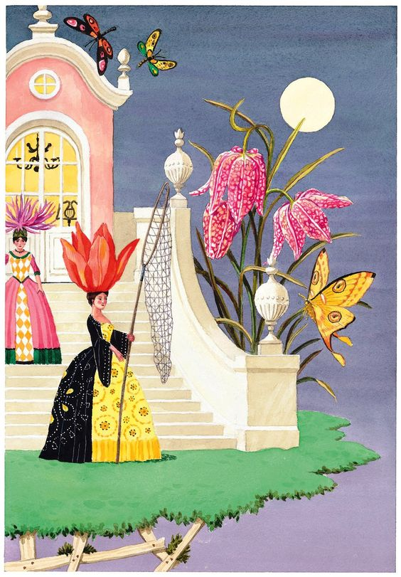Harrison Howard, Flower and Shell People: Evening Butterfly Hunt: