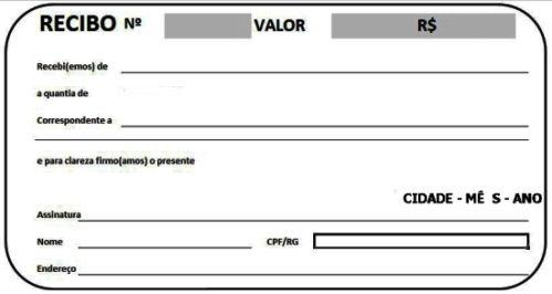 Modelos De Recibo Pronto Imprimir Com Imagens Recibo De