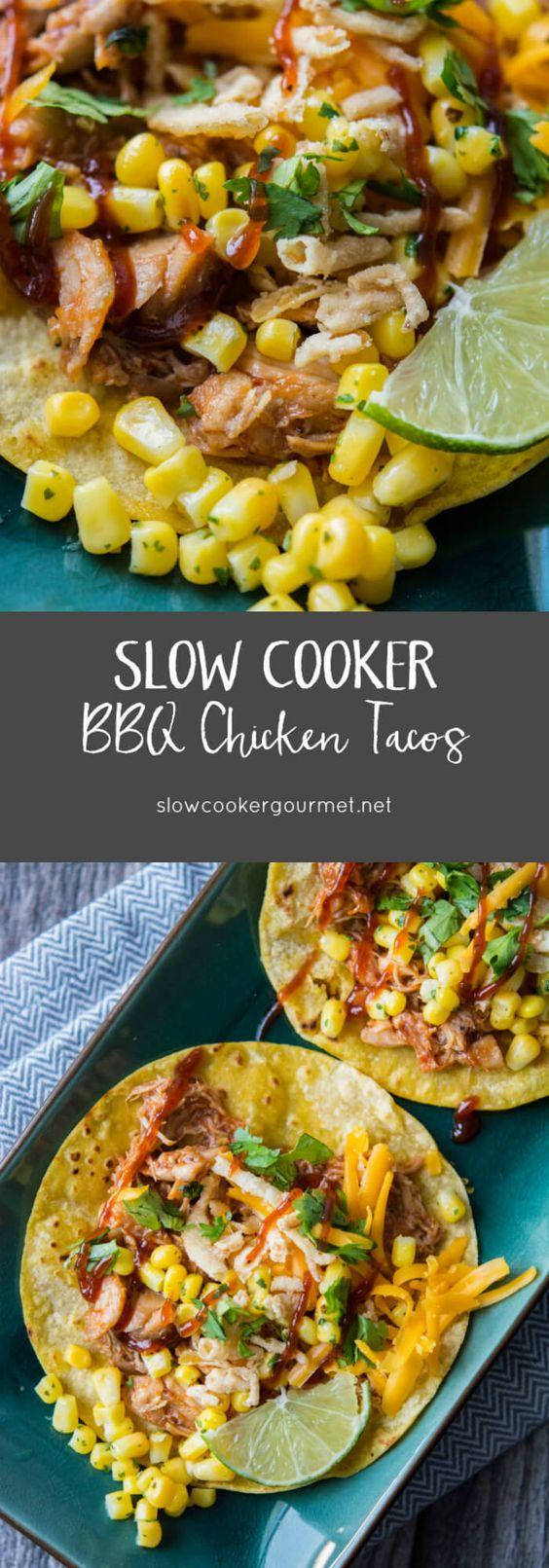 or other bottles chicken seasoning blend Slow Cooker BBQ Chicken Tacos