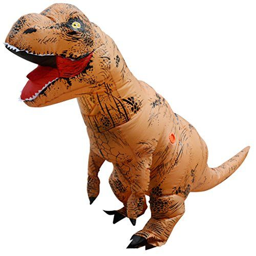 Unisex Kids T-Rex Inflatable Dinosaur Costume Blow Up Fancy Funny Dress