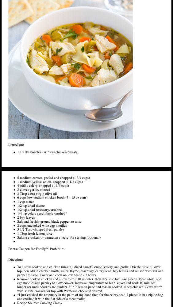 Beth's Crockpot Chicken Noodle Soup