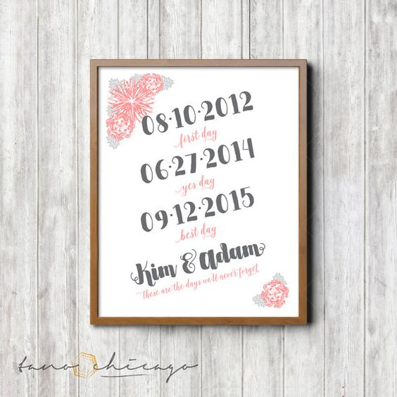 Framable Print Wedding Wall Decor  The First Day by TanoChicago