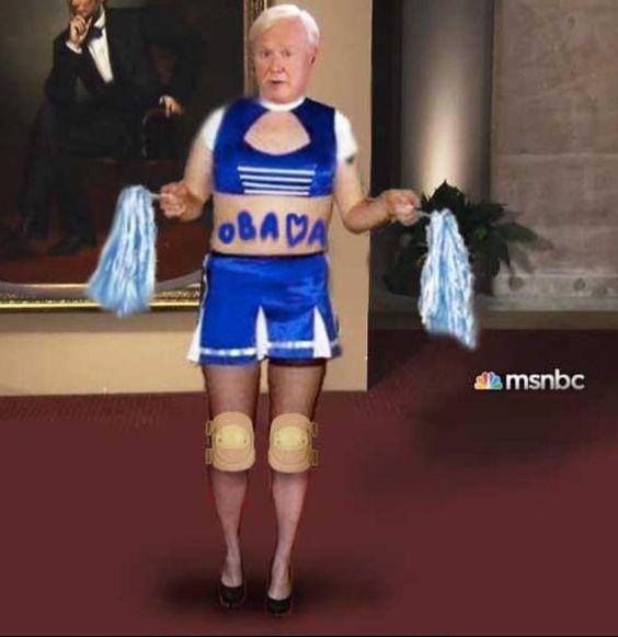 Perfect shot of Chris Matthews - MSNBC!