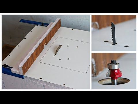 3 In 1 Table Saw Mini Router Table And Jigsaw Table Diy Multifunction Table Youtube Jigsaw Table Table Saw Router Table