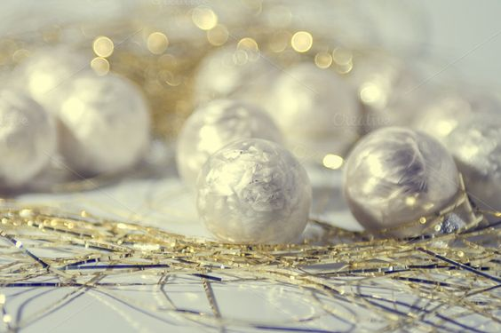 Check out White christmas baubles by Patricia Hofmeester on Creative Market