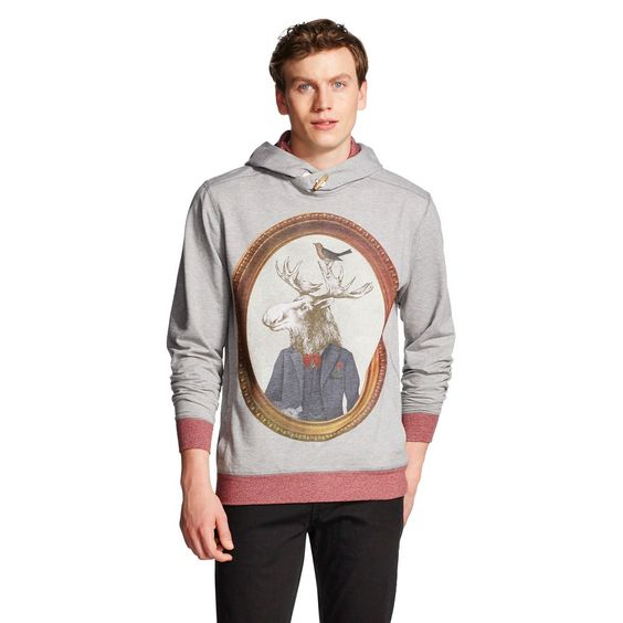 Men's Sweatshirts White Xxl - Citizen Wolf, Size: XX Large, Grey