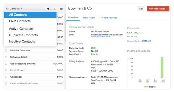 zoho invoice screenshot 8 Zoho Pinterest - how to set up an invoice