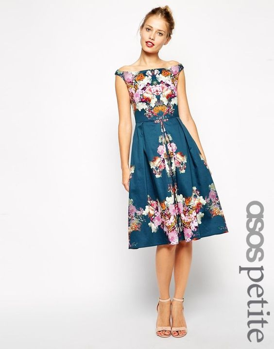 Collection Floral Party Dresses Pictures - Reikian