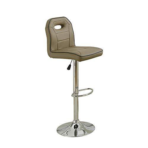Benjara Bm171249 Bar Stool With Adjustable Height Set Of 2 Brown With Images Bar Stools Stool Adjustable
