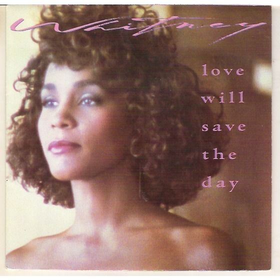 Whitney Houston – Love Will Save the Day (single cover art)