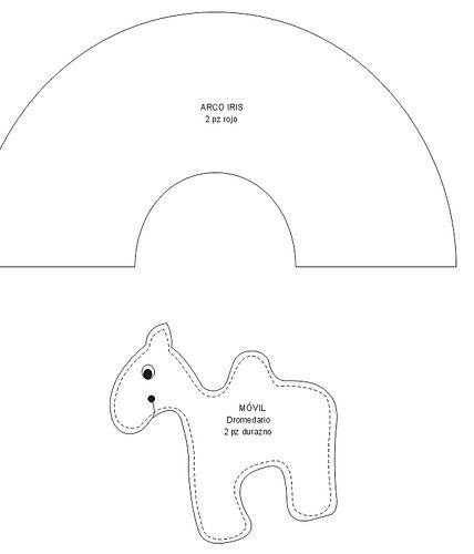 molde do móbile de animais e arcoiris V by nina menina, via Flickr