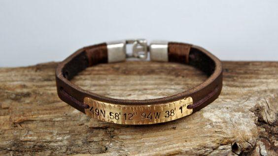 Kostenloser Versand Mens personalisierte Armband von FosforStore