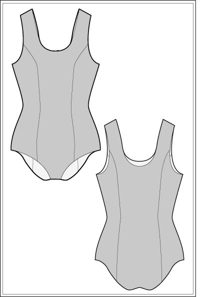 Ralph Pink. com is giving away a free sewing pattern - Start making your own swimwear with this basic block