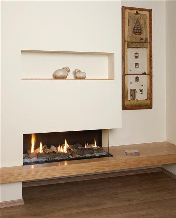 bio ethanol fireplace recessed