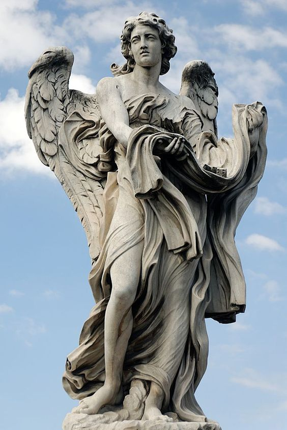 Angel with the Garment and Dice by Paolo Naldini, Ponte Sant'Angelo.